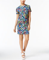 Love Moschino Heart-Print Fleece Dress