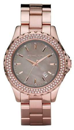 Michael Kors Women's MK5453 Gold Stainless-Steel Quartz Watch with Gold Dial