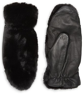 RENVY Faux Fur Leather Gloves