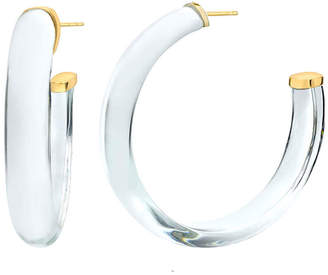 clear Gold & Honey Small Lucite Hoop Earrings,