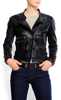 MANGO Biker leather jacket
