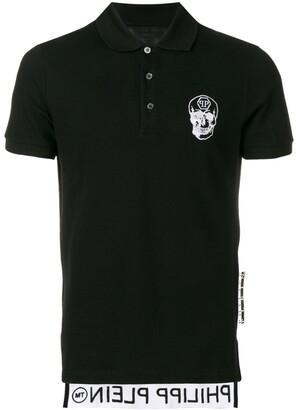 Philipp Plein chest skull polo shirt