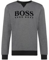 HUGO BOSS Sweatshirt Cotton Flock Logo Sweatshirt M Black