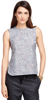Brooks Brothers Cotton Sleeveless Printed Shirt