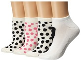Kate Spade 4-Pack Ped Socks Women's No Show Socks Shoes