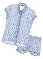 Cosabella Bella Printed Capsleeve & Boxer Pajama Set