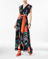 INC International Concepts Petite Printed High-Low Maxi Dress, Only at Macy's