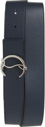 Christian Louboutin CL Buckle Leather Belt
