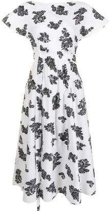 Erdem Fraser floral-print midi dress
