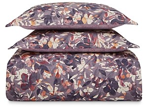 Sky Shadow Floral Twill Duvet Cover Set, King - 100% Exclusive