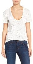 Joe's Jeans Women's Gilles Destroyed Silk Blend Tee