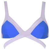 Agent Provocateur Mazzy Bikini Top White And Blue