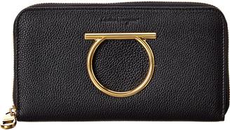 Salvatore Ferragamo Leather Zip Around Wallet