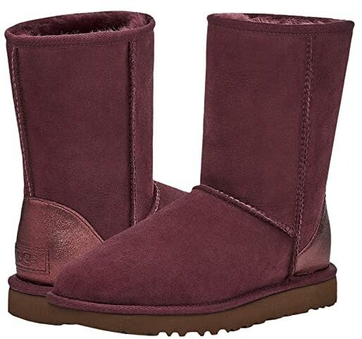 UGG Classic Short II Metallic (Wild Grape) Women's Boots