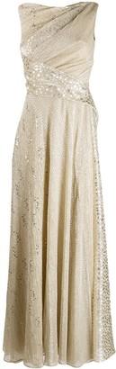 Talbot Runhof draped evening gown