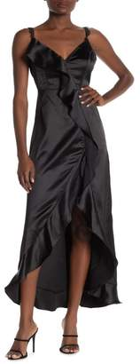 ONE ONE SIX Harare Ruffled Satin Maxi Dress