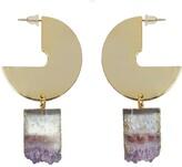 Tiana Jewel Desert Vibe Amethyst Sector Gemstone Earrings
