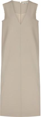 Hanna Fiedler Herbert Raw-Edge Wool Midi Dress