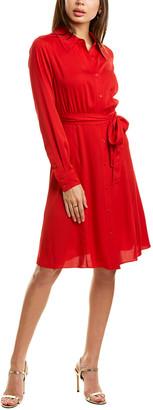 Diane von Furstenberg Dory Silk-Blend Shirtdress