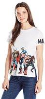 Marvel Junior's Group Shot Short Sleeve Graphic Fashion Tee