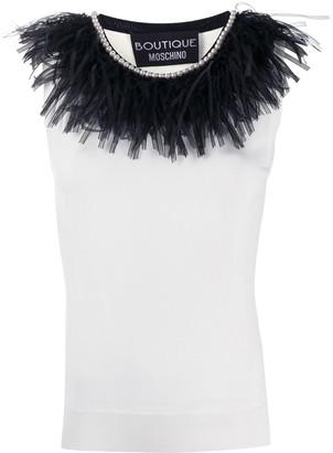 Boutique Moschino Bead Trim Vest Top
