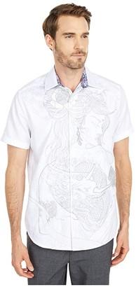 Robert Graham Eastern Beauty Button-Up Shirt (White) Men's Short Sleeve Button Up