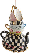 Mackenzie Childs MacKenzie-Childs - Wonderland Stacking Teacups Tree Decoration