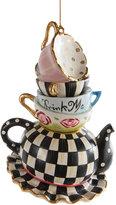 Mackenzie Childs Wonderland Stacking Teacups Tree Decoration
