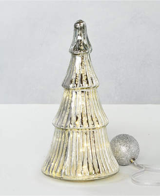 Martha Stewart Collection Silver Woods Led Glass Tree
