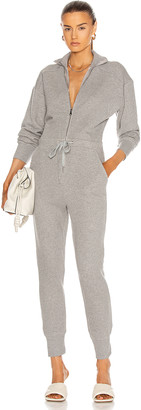 Marissa Webb Red-Eye French Terry Zip Front Jumpsuit in Heather Grey | FWRD