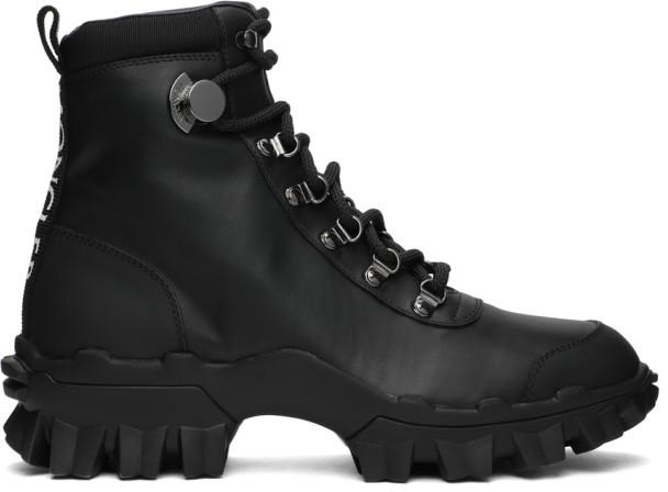 Moncler Black Leather Helis Boots