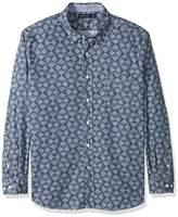 Nautica Men's Print Classic Fit Casual Shirt,L