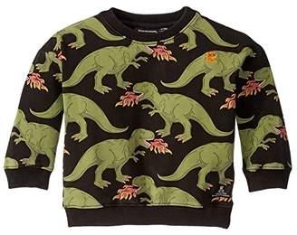 Rock Your Baby Godzilla Sweatshirt (Infant) (Charcoal) Boy's Clothing