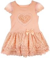Nannette Toddler Girl Rosette Heart Lace Dress