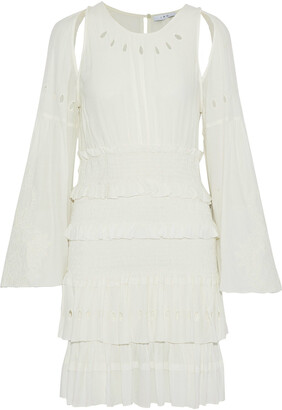 IRO Jedway Cold-shoulder Broderie Anglaise Gauze Mini Dress