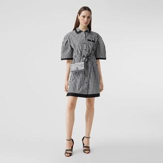 Burberry Puff-sleeve Gingham Cotton Shirt Dress