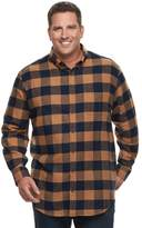 Croft & Barrow Big & Tall True Comfort Classic-Fit Flannel Button-Down Shirt