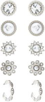 Accessorize 5 X Classic Occasion Stud Earrings Set