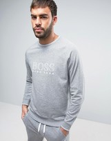 HUGO BOSS BOSS By Crew Neck Sweat Top With Logo