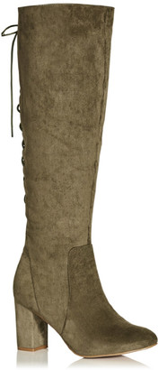 City Chic Perry Knee Boot - olive