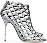 Sergio Rossi glitter embellished sandals - women - Calf Leather/Leather - 35