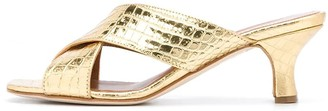 Paris Texas Croc-embossed 45mm Sandals