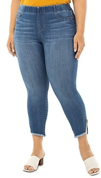 Liverpool Los Angeles Plus Chloe Pull-On Skinny Cropped Jeans in Stillwell