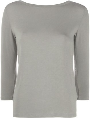 Majestic Filatures V-back 3/4 sleeve top