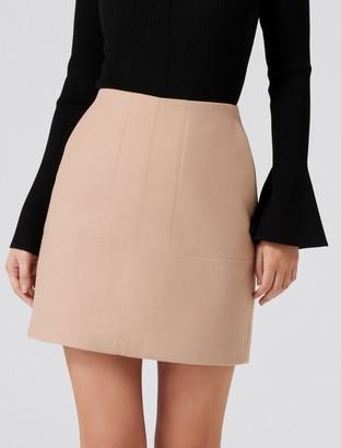 Forever New Sabrina Pocket Mini Skirt - Tan - 14