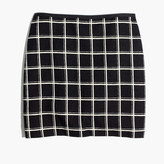 Madewell Double Windowpane Mini Skirt