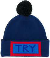 Fendi Try embroidered beanie