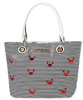 Betsey Johnson Don't Be Shellfish Striped Crab Tote