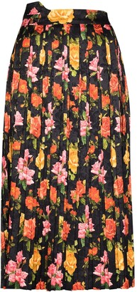 Commission Fanny floral-jacquard skirt
