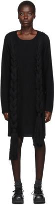Comme des Garçons Homme Plus Black Worsted Yarn Braid Dress
